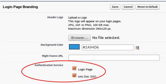 Single Sign-On — eXo Platform 5 3 documentation